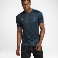 Nike Breathe Squad Short Sleeve Top - Men's - Navy / Light Blue