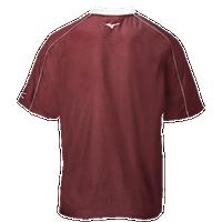 Mizuno Compression 1/4 Zip S/S Batting Jacket - Men's Baseball - Red 0991010