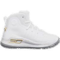f2b2dfea3390 Under Armour Curry 4 - Boys  Preschool - Stephen Curry - White   Gold