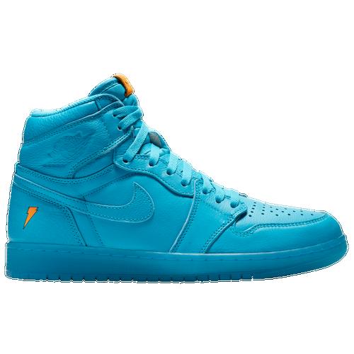 Jordan Retro 1 High OG - Men's - Light Blue / Light Blue