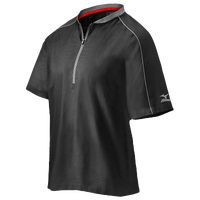 Mizuno Compression 1/4 Zip S/S Batting Jacket - Men's - Black / Grey