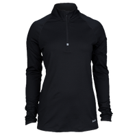 Eastbay Cold Weather 1/4 Zip - Women's - All Black / Black