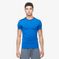 Eastbay EVAPOR Premium S/S Compression T-Shirt - Men's - Blue / Black