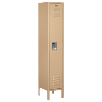 Salsbury Unassembled Single Tier Standard Locker - Tan / Tan
