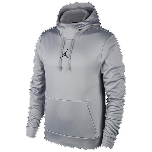 Jordan 23 Alpha Therma Pullover Hoodie - Men's - Training - Clothing - Wolf  Grey/Black