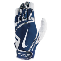 Nike Trout Edge Batting Gloves - Grade School - White / Navy
