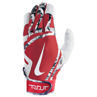 Nike Trout Edge Batting Gloves - Grade School - White / Red