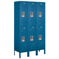 Salsbury Assembled Double Tier Standard Locker - Blue / Blue