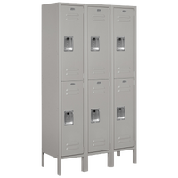 Salsbury Assembled Double Tier Standard Locker - Grey / Grey