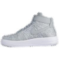 Nike Air Force 1 Ultra Flyknit - Boys\u0027 Grade School - Grey / White