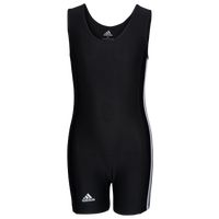 adidas 3 Stripe Girl's Singlet - Girls' Grade School - Black
