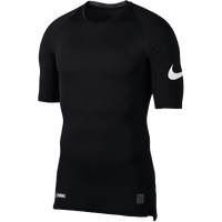Nike Football 1/2 Sleeve Compression Top - Men's - Black / White
