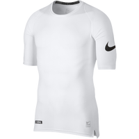 Nike Football 1/2 Sleeve Compression Top - Men's - White / Black