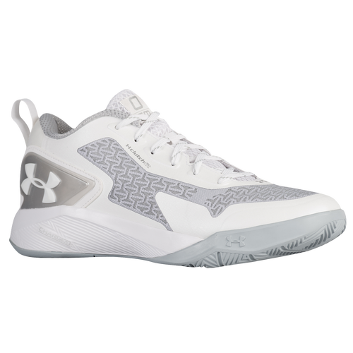 8146611583fc ... cheap under armour clutchfit drive 2 low mens basketball shoes emmanuel  mudiay white metallic siver 76cee