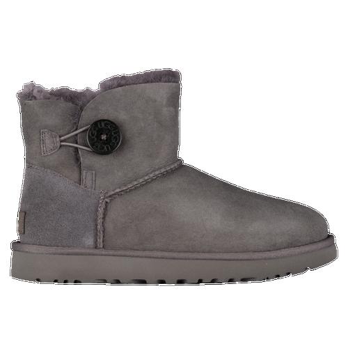 ugg mini bailey button ii women s casual shoes grey rh eastbay com