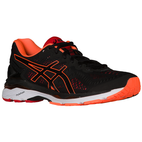 ASICS® GEL-Kayano 23 - Men's - Running - Shoes - Black/Hot Orange/Vermilion