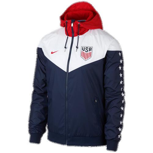 Nike USA Windrunner Jacket - Men's Soccer - Midnight Navy/White/University Red 6519410