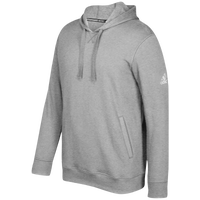 adidas Team Fleece Hoodie - Men's - Grey / White