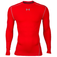 Under Armour ColdGear Armour Compression Crew - Men's - Red / Grey