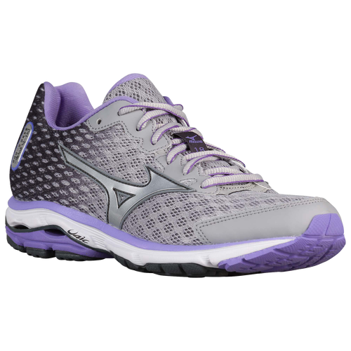 Mizuno Wave Rider 18 - Women's - Running - Shoes - Alloy/Dahlia Purple/Dark  Shadow