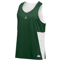 Jordan Team Flight Reversible Tank - Men's - Dark Green / White