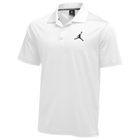 Jordan Team Polo - Men's - All White / White