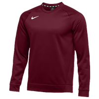 Nike Team Therma Crew - Men's - Maroon / Maroon