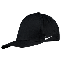 Nike Team Dri-Fit Swoosh Flex Cap - Men's - All Black / Black