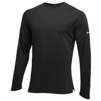 Nike Team Hyperelite L/S Shooter Top - Men's - All Black / Black