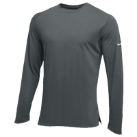 Nike Team Hyperelite L/S Shooter Top - Men's - Grey / Grey