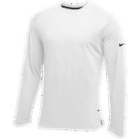 Nike Team Hyperelite L/S Shooter Top - Men's - All White / White
