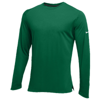 Nike Team Hyperelite L/S Shooter Top - Men's - Dark Green / White