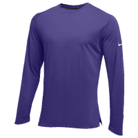 Nike Team Hyperelite L/S Shooter Top - Men's - Purple / Purple