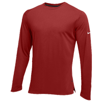 Nike Team Hyperelite L/S Shooter Top - Men's - Cardinal / Cardinal