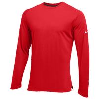 Nike Team Hyperelite L/S Shooter Top - Men's - Red / White