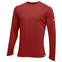 Nike Team Hyperelite L/S Shooter Top - Men's - Maroon / Maroon