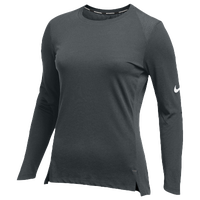 Nike Team Hyperelite L/S Shooter Top - Women's - Grey / Grey