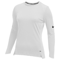 Nike Team Hyperelite L/S Shooter Top - Women's - All White / White