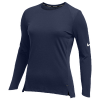 Nike Team Hyperelite L/S Shooter Top - Women's - Navy / Navy