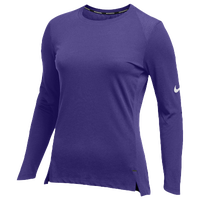 Nike Team Hyperelite L/S Shooter Top - Women's - Purple / Purple