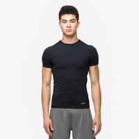 Eastbay EVAPOR Core Compression S/S Crew Top - Men's - All Black / Black