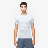 Eastbay EVAPOR Core Compression S/S Crew Top - Men's - All White / White