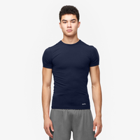 Eastbay EVAPOR Compression S/S Crew Top - Men's - Navy / Navy