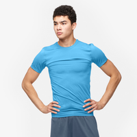 Eastbay EVAPOR Compression S/S Crew Top - Men's - Light Blue / Light Blue