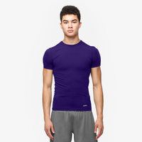 Eastbay EVAPOR Compression S/S Crew Top - Men's - Purple / Purple