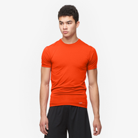 Eastbay EVAPOR Core Compression S/S Crew Top - Men's - Orange / Orange