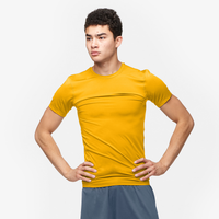 Eastbay EVAPOR Core Compression S/S Crew Top - Men's - Gold / Gold