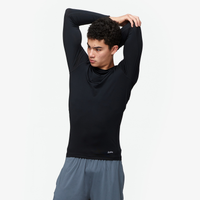 Eastbay EVAPOR Long Sleeve Compression Crew - Men's - All Black / Black
