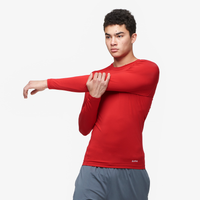 Eastbay EVAPOR Long Sleeve Compression Crew - Men's - Red / Red