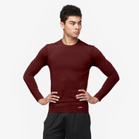 Eastbay EVAPOR Long Sleeve Compression Crew - Men's - Maroon / Maroon
